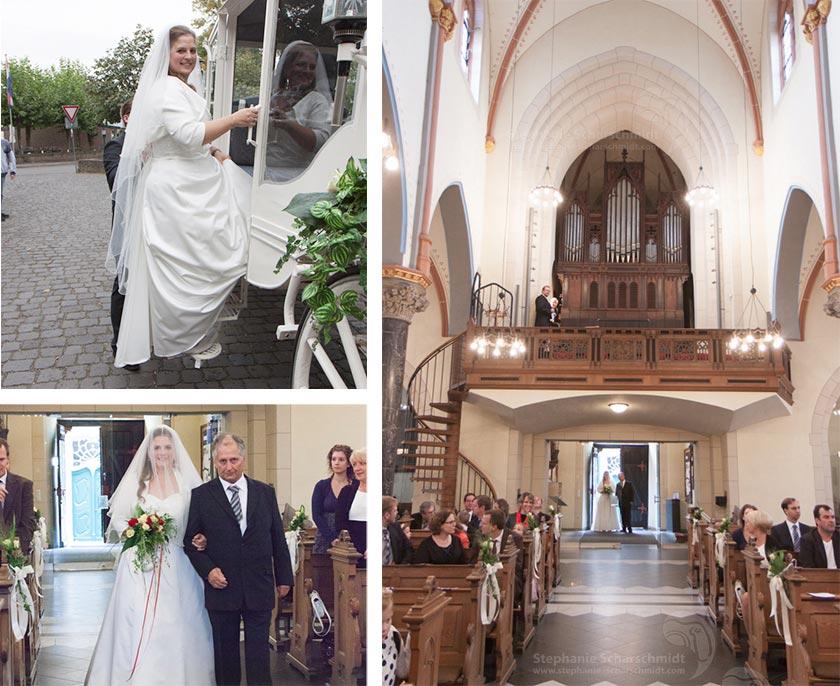 Hochzeitsfotos Einzug in die St. Martinus Kriche in Zons Dormagen