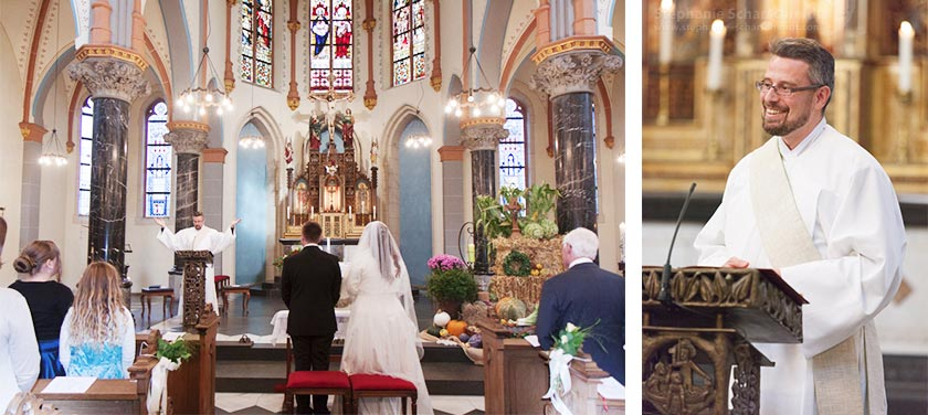 Hochzeitsfotos – Hochzeitsfotos bei der kirchlichen Trauung – Zons in Dormagen – Rhein-Kreis-Neuss