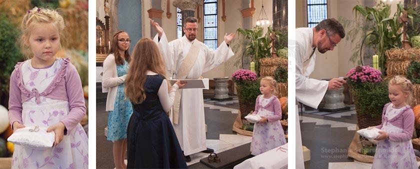 Hochzeitsfotos – kirchlichen Trauung – Segnung der Ringe