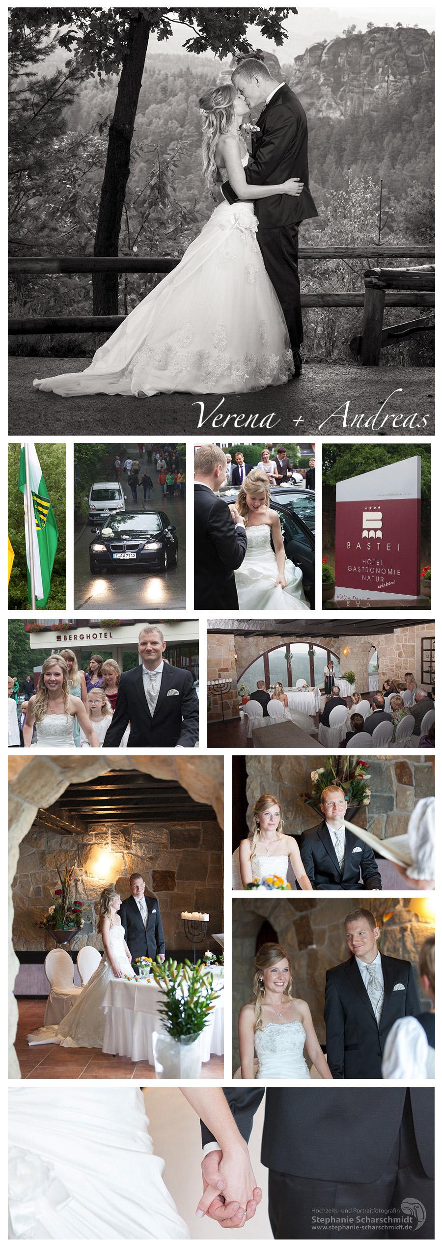 Hochzeitsfotograf in Sachsen Hochzeitsreportage in der Bastei Sächsische Schweiz standesamtliche Trauung Berghotel Bastei Bad Schandau Hochzeitsfotografin Stephanie Scharschmidt
