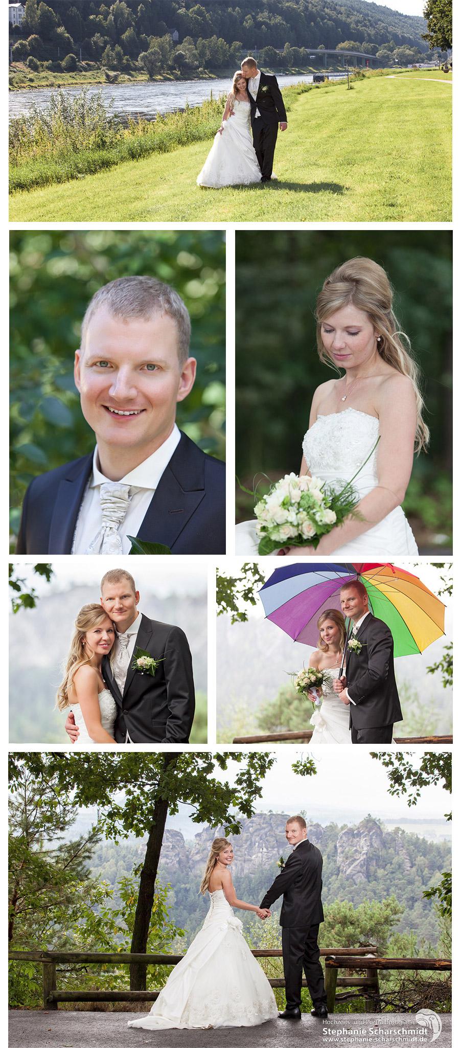 Hochzeitsfotograf in Sachsen - Hochzeit in der Sächsischen Schweiz auf der Bastei - Hochzeitsfotografin Stephanie Scharschmidt