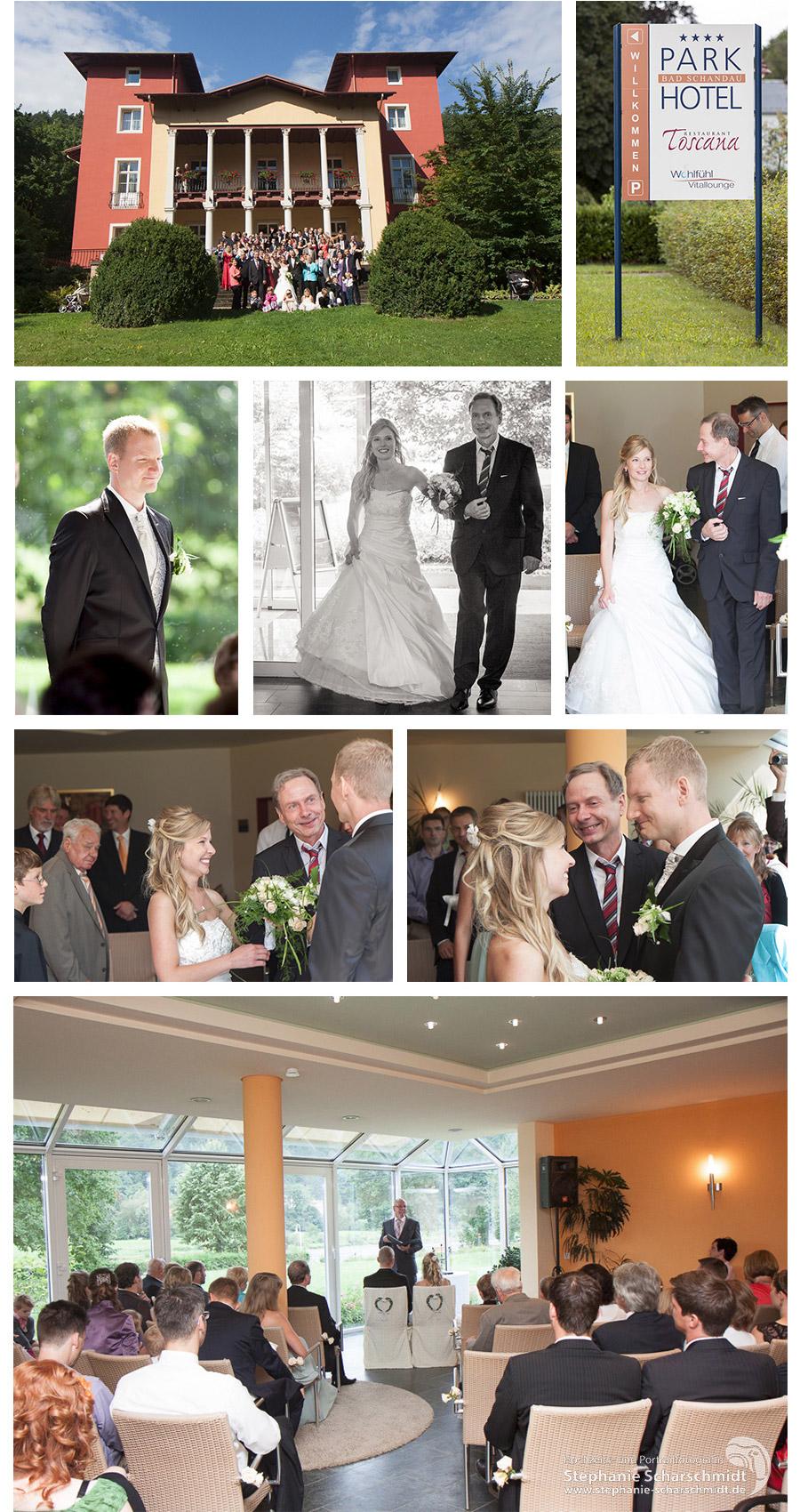 Hochzeitsfotograf in Sachsen - Kirchliche Trauung im Parkhotel Bad Schandau in der Sächsischen Schweiz - Hochzeitsfotografin Stephanie Scharschmidt