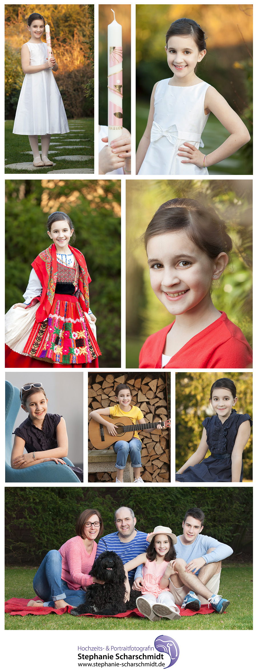 Kommunionfotos und Familienfotos Elsterberg im Vogtland - Kinder Portraits - Fotografin Stephanie Scharschmidt