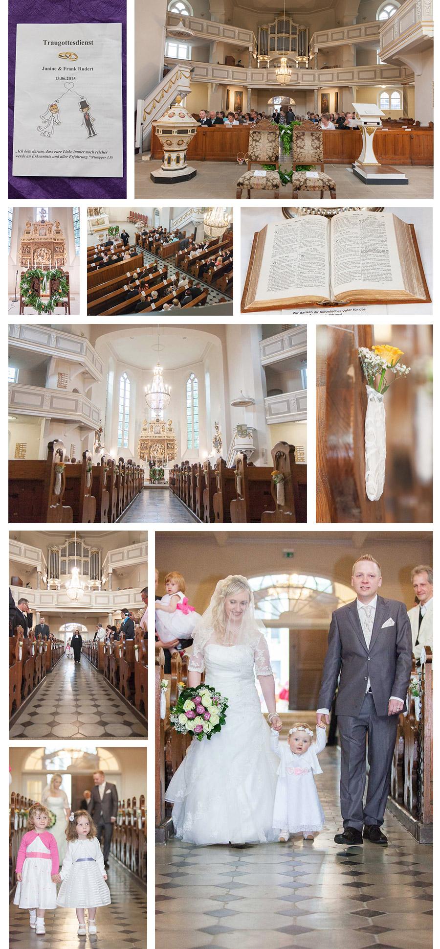 Kirchliche Trauung in Lutherkirche in Plauen – Hochzeits- und Portraitfotografin Stephanie Scharschmidt