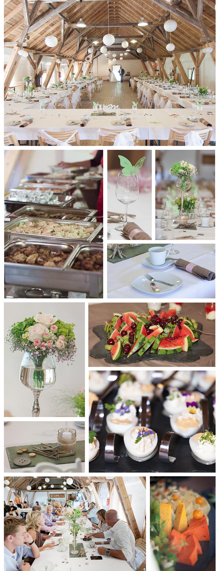 Catering im Pfaffengut in Plauen – Natur Dekoration für Hochzeit Hochzeits- und Portraitfotografin Stephanie Scharschmidt