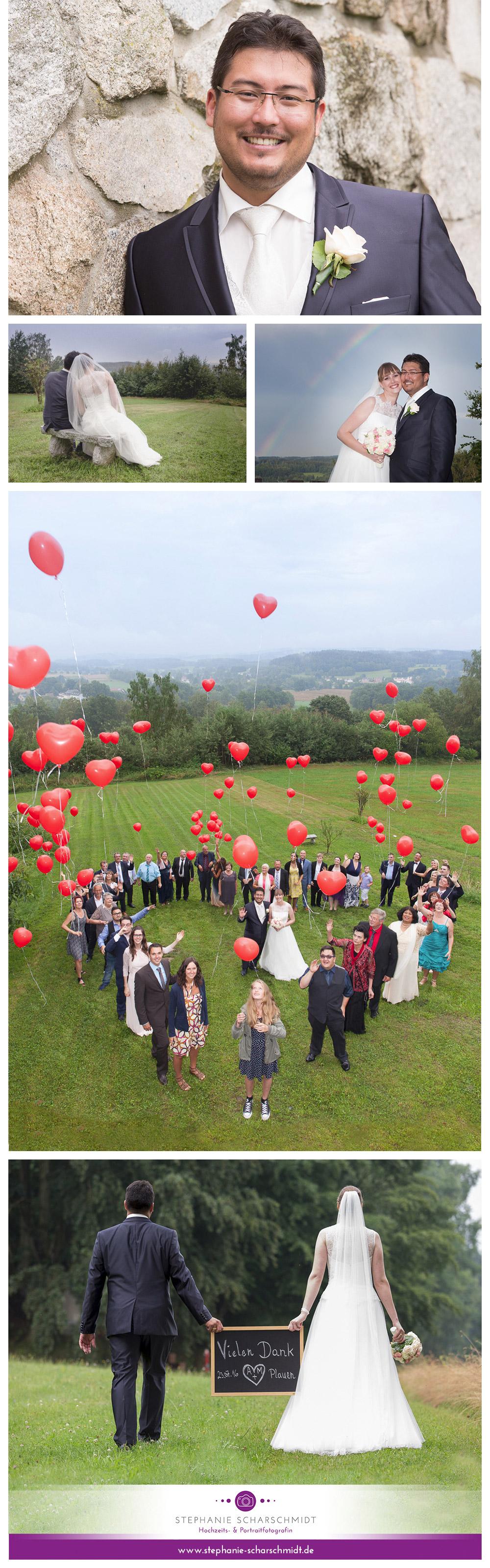 außergewöhnliche Hochzeitsfotos im Vogtland