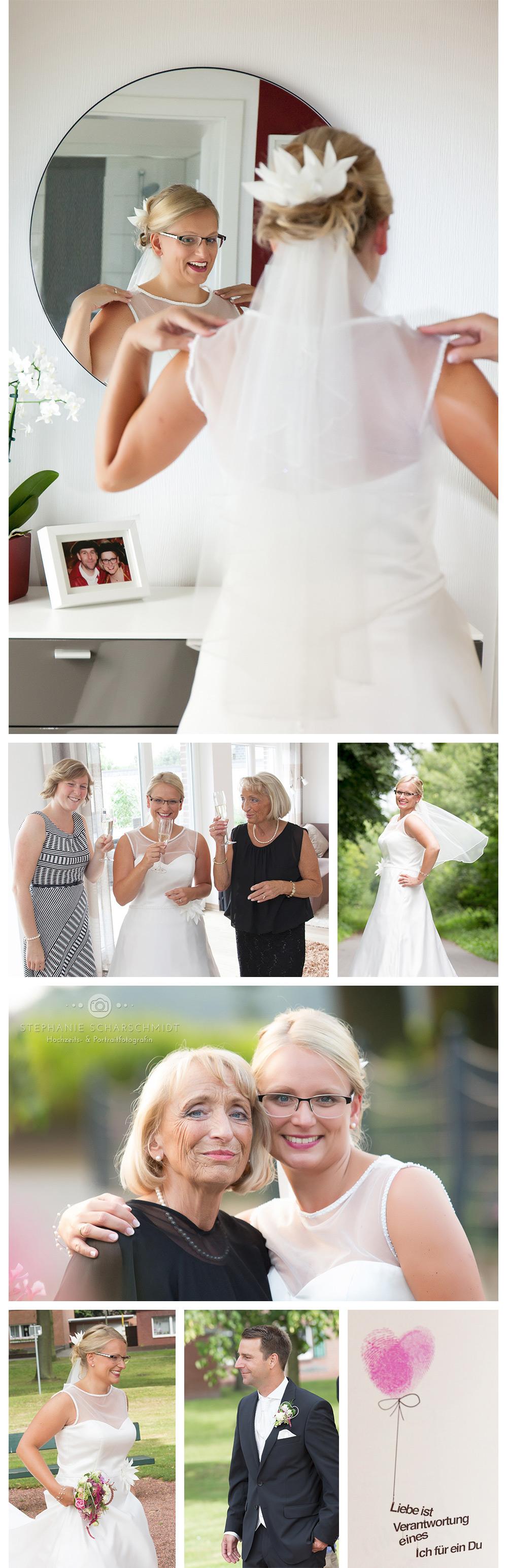 Braut und Brautmutter Ganztags-Hochzeitsreportage