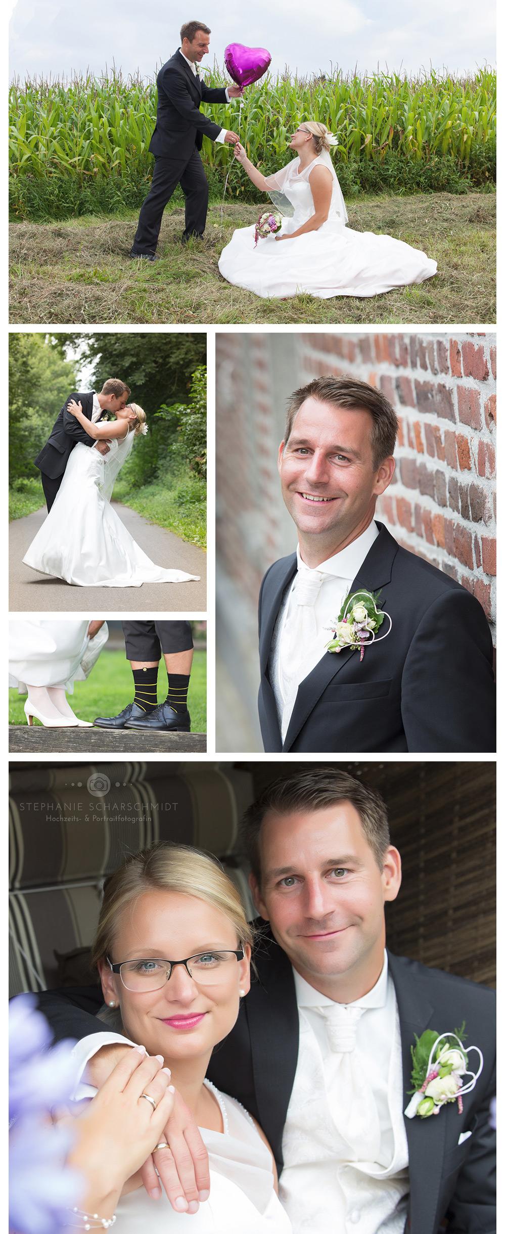 kreative Brautpaarfotos – umfangreiche Hochzeitsreportage