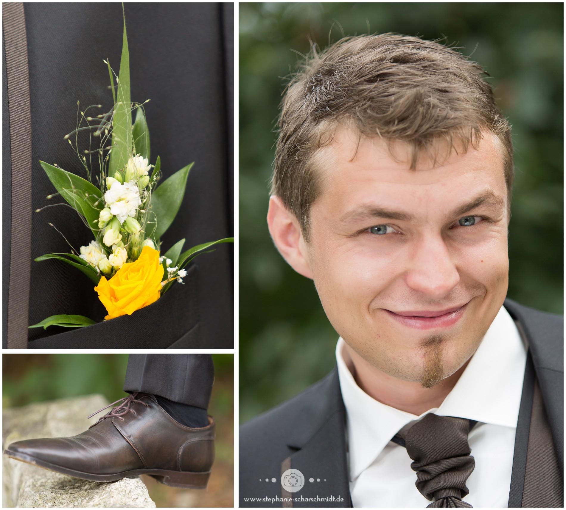 ein Bräutigam in Greiz Thüringen - Hochzeitsfotograf Landkreis Greiz