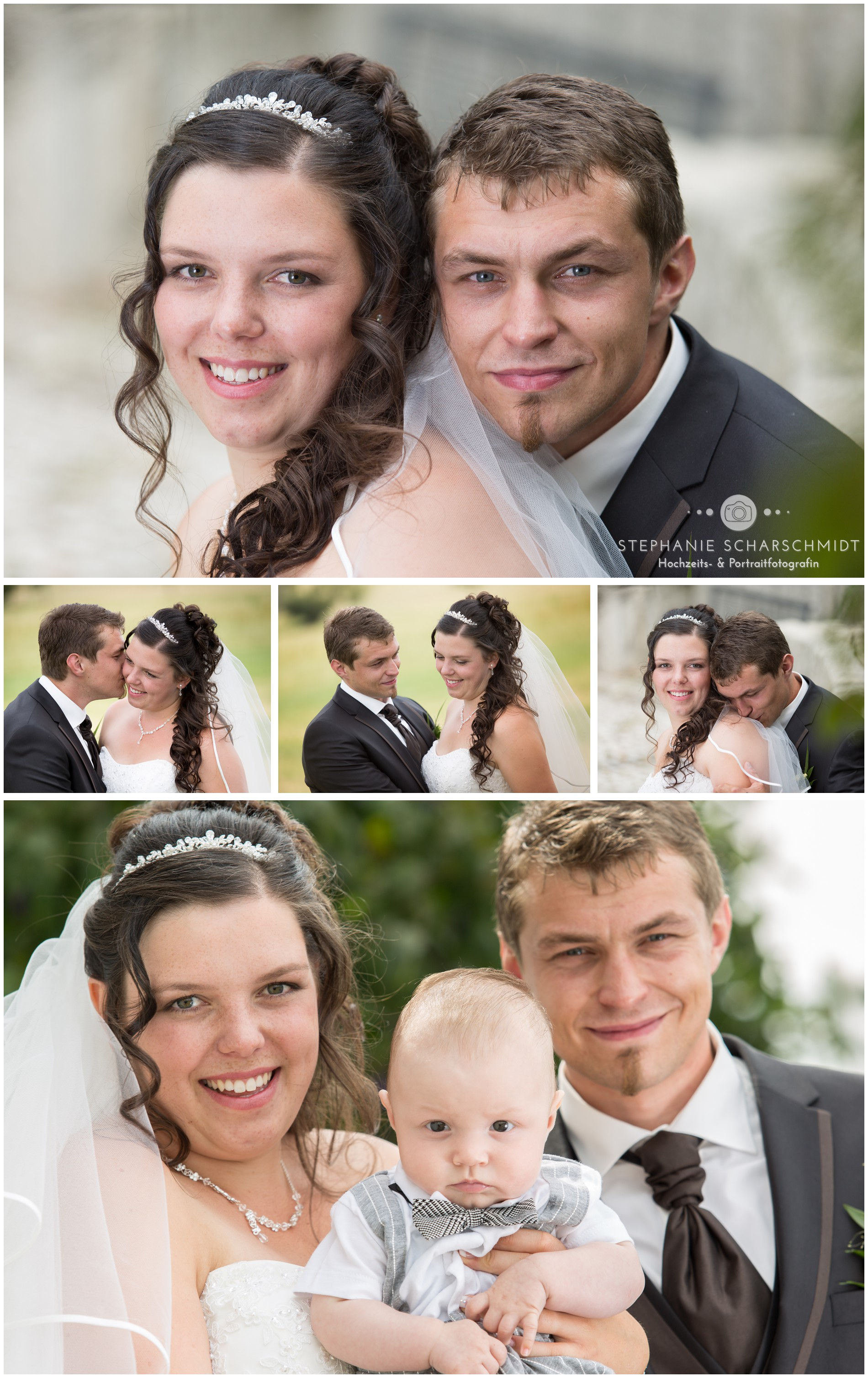 Brautpaar Fotoshooting mit Baby in Greiz – Hochzeitsfotograf Thüringen