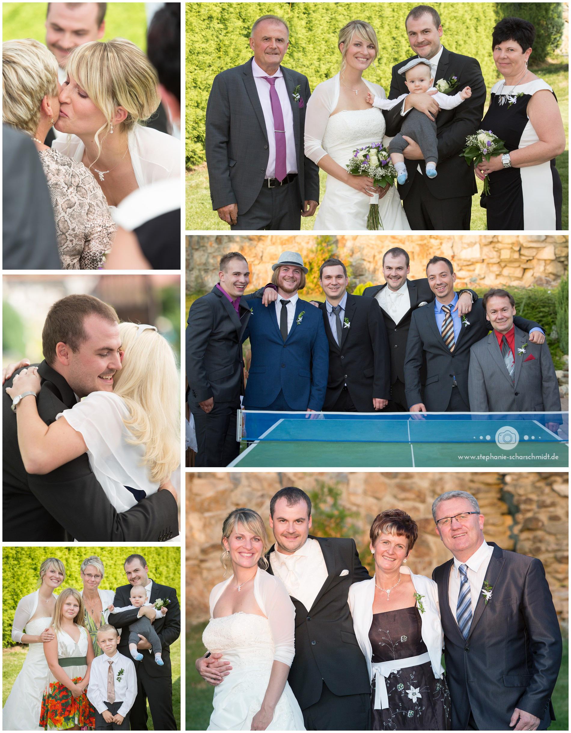 gruppenfotos bei einer Hochzeit – internationale Gäste