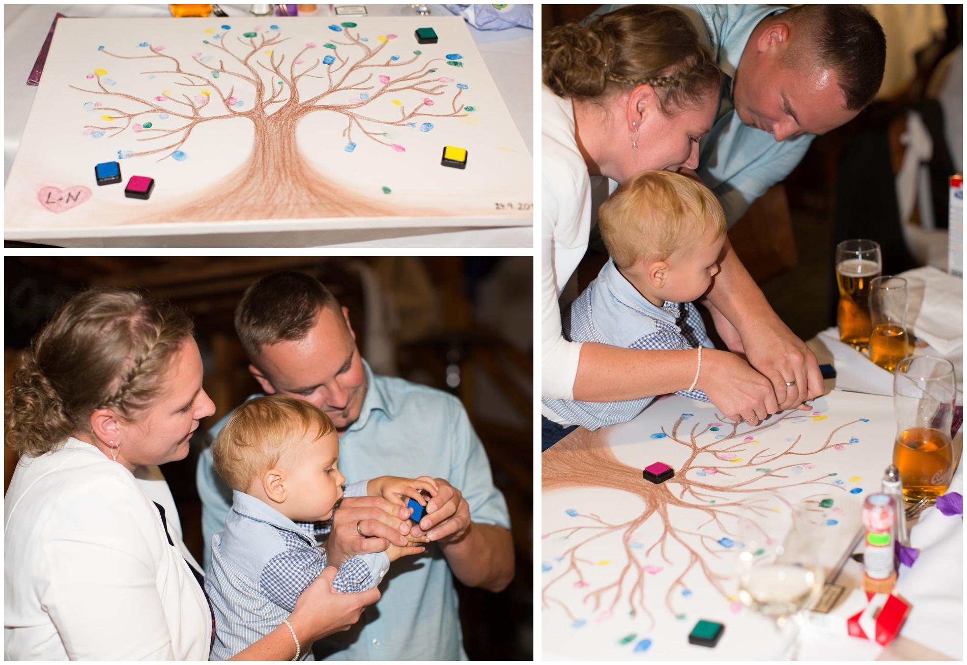 Hochzeitsgeschenk - Fingerabdruck Baum