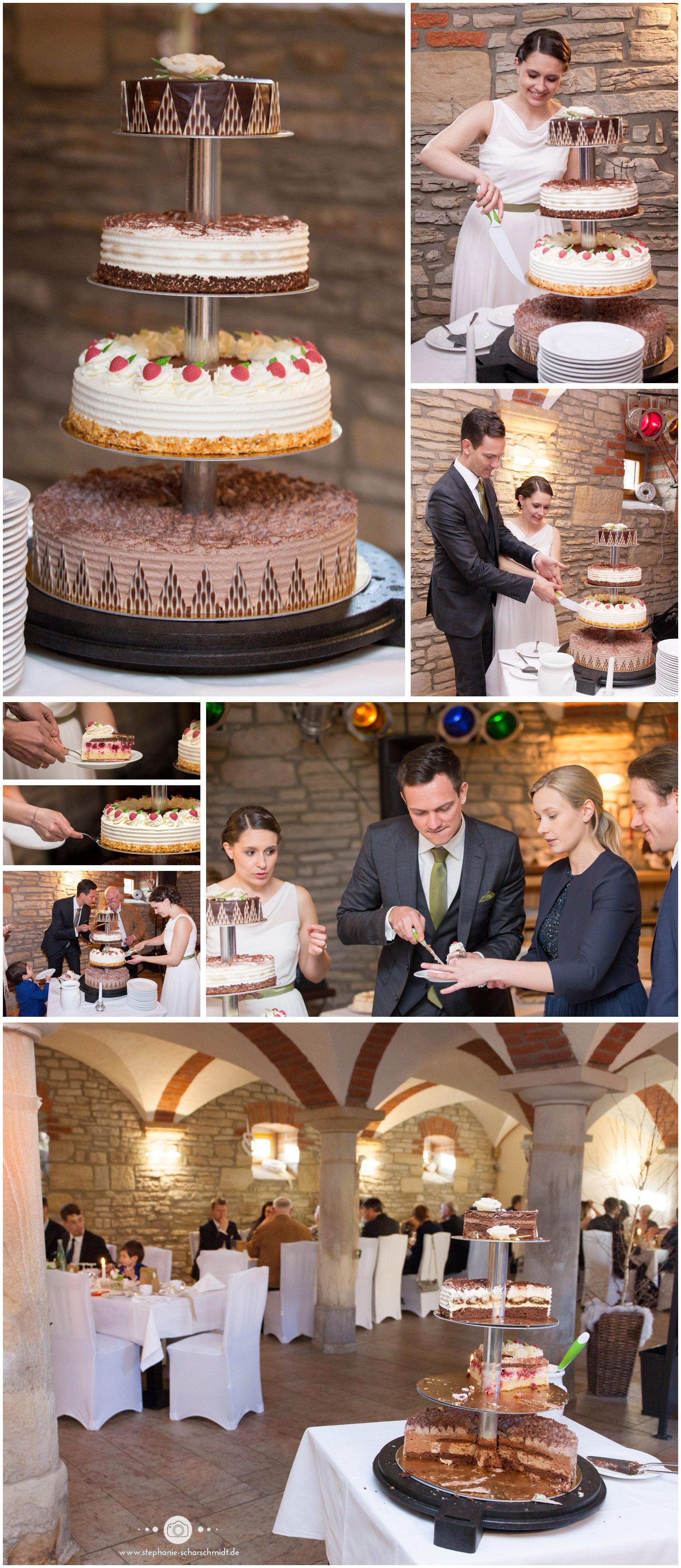 10 – Hochzeitstorte - Kaffeehaus Gräfe Jena – Hochzeitsfotografin Stephanie Scharschmidt