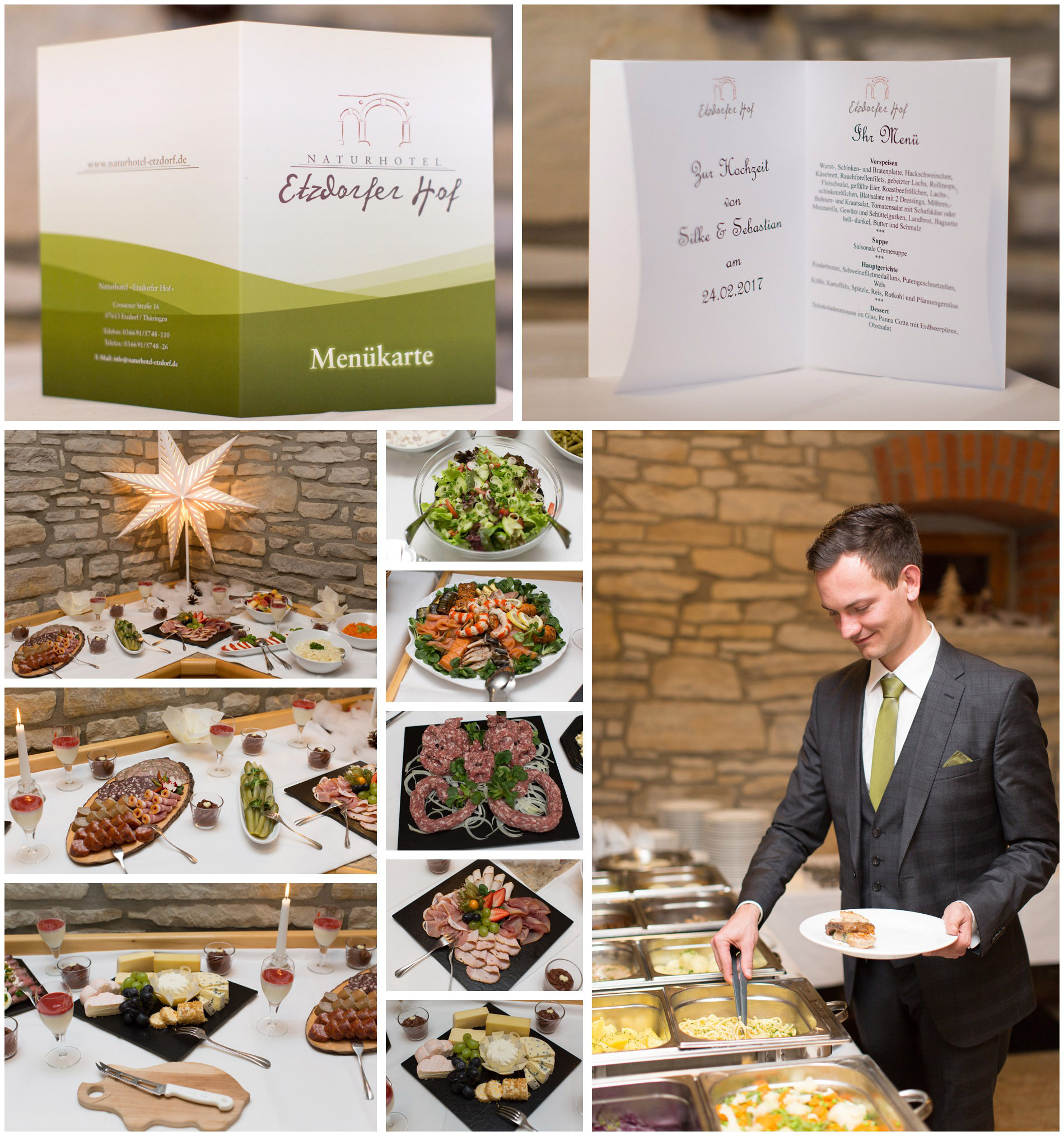 14 – exquisite Catering im Etzdorfer Hof – Eisenberg - Saale-Holzland-Kreis Thüringen – Hochzeitsfotografin Stephanie Scharschmidt
