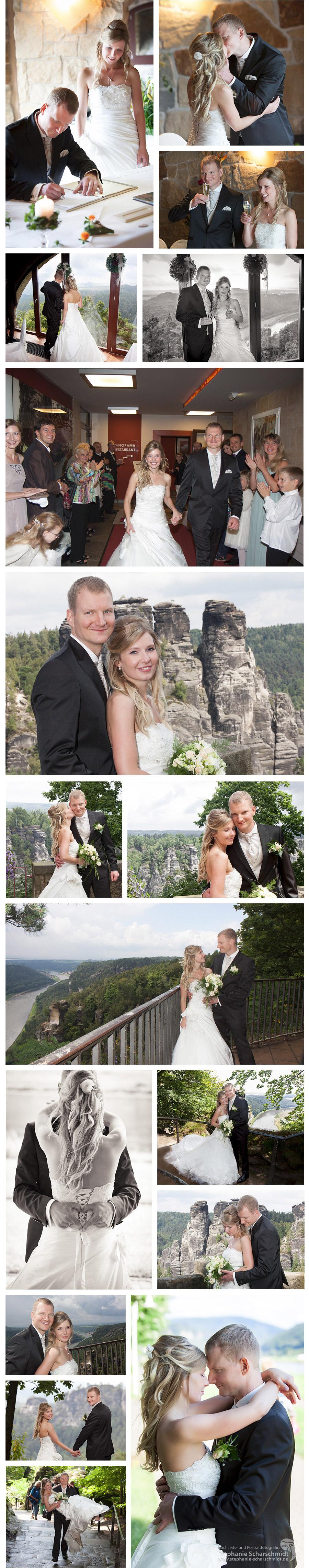Hochzeitsfotograf in Sachsen - Brautpaarfotos auf der Bastei in der Sächsischen Schweiz - Hochzeitsfotografin Stephanie Scharschmidt