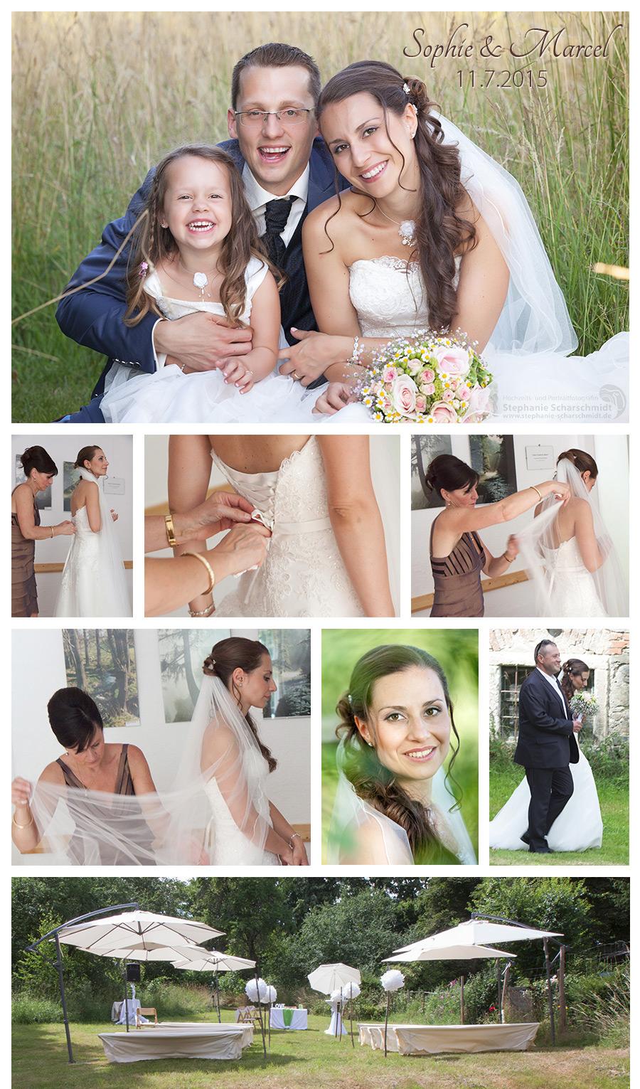 Hochzeit im Grünen - Dekoration für Trauung in der Natur- Hochzeit im Pfaffengut in Plauen – Hochzeitsfotograf in Plauen im Vogtland – Hochzeits- und Portraitfotografin Stephanie Scharschmidt