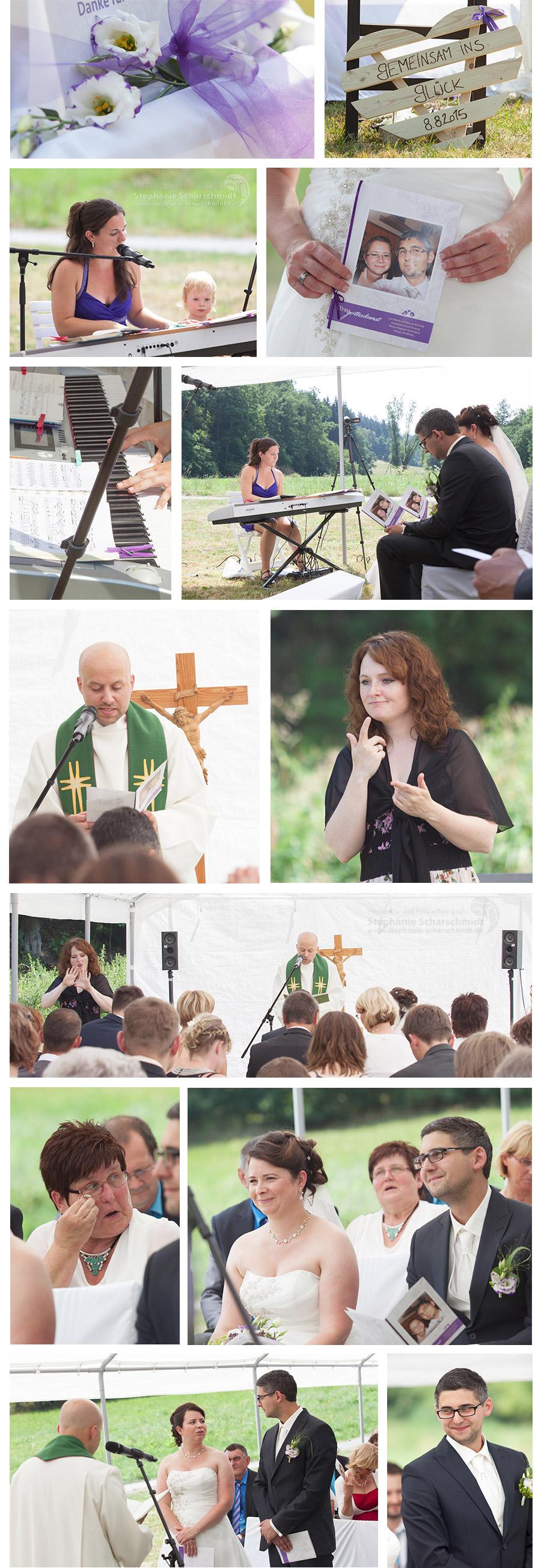 kirchliche Trauung in Gebärdensprache in der Pension und Restaurant Lochbauer in Plauen – Stephanie Scharschmidt Hochzeitsfotograf Plauen