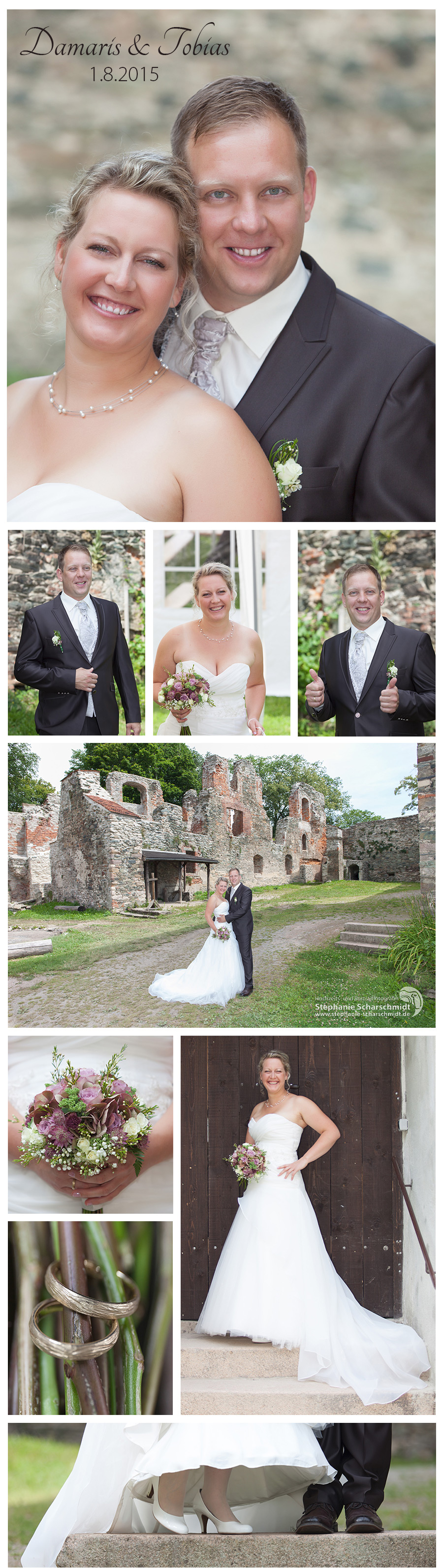 Hochzeitsreportage Brautpaar Shooting romantischen Schlossruine Hartenstein bei Zwickau (Sachsen) - Hochzeitsfotograf Zwickau - Hochzeits- und Portraitfotografin Stephanie Scharschmidt