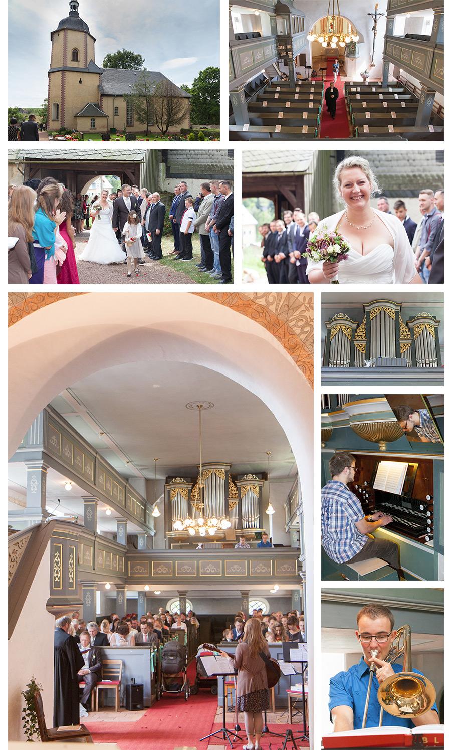 katholische Trauung in der Dorfkirche Zschocken bei Hartenstein - Hochzeitsfotograf Zwickau Stephanie Scharschmidt