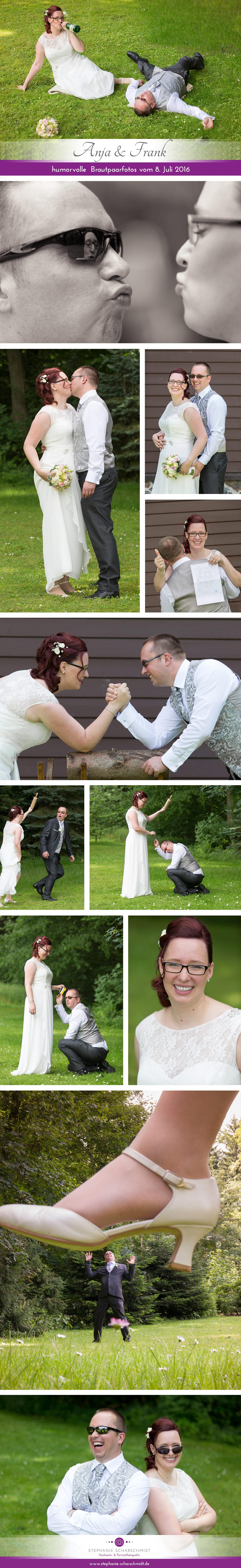 lustige Brautpaarfotos in Zwickau sachsen