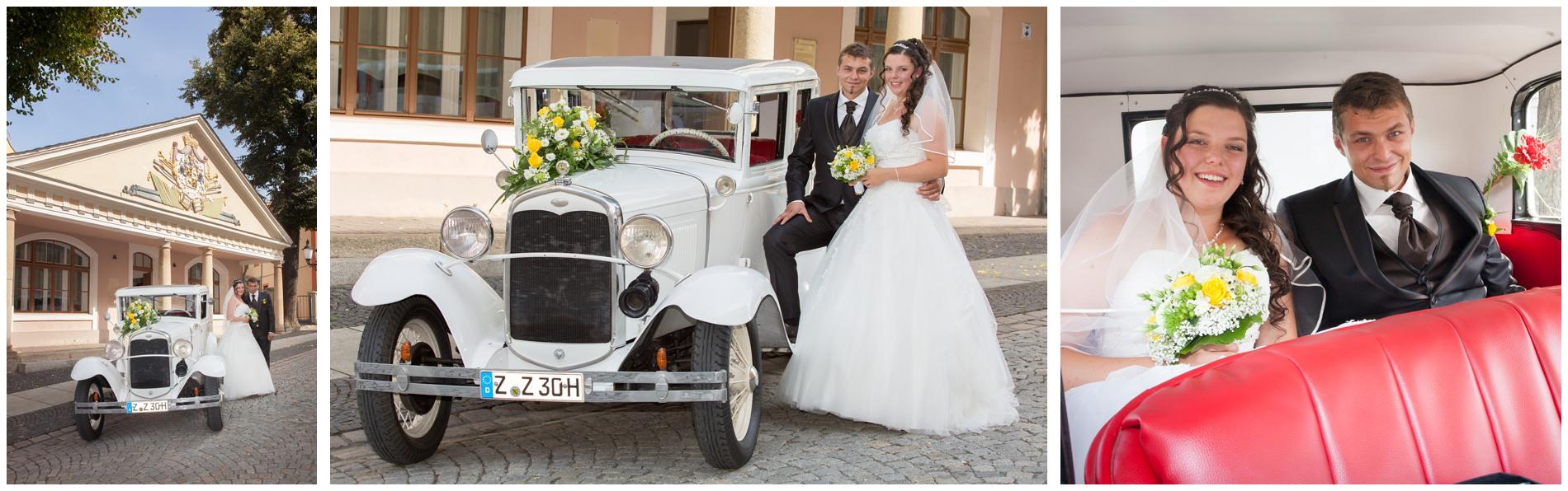 Oldtimer als Hochzeitsauto in Thüringen - Hochzeitsfotograf Thüringen