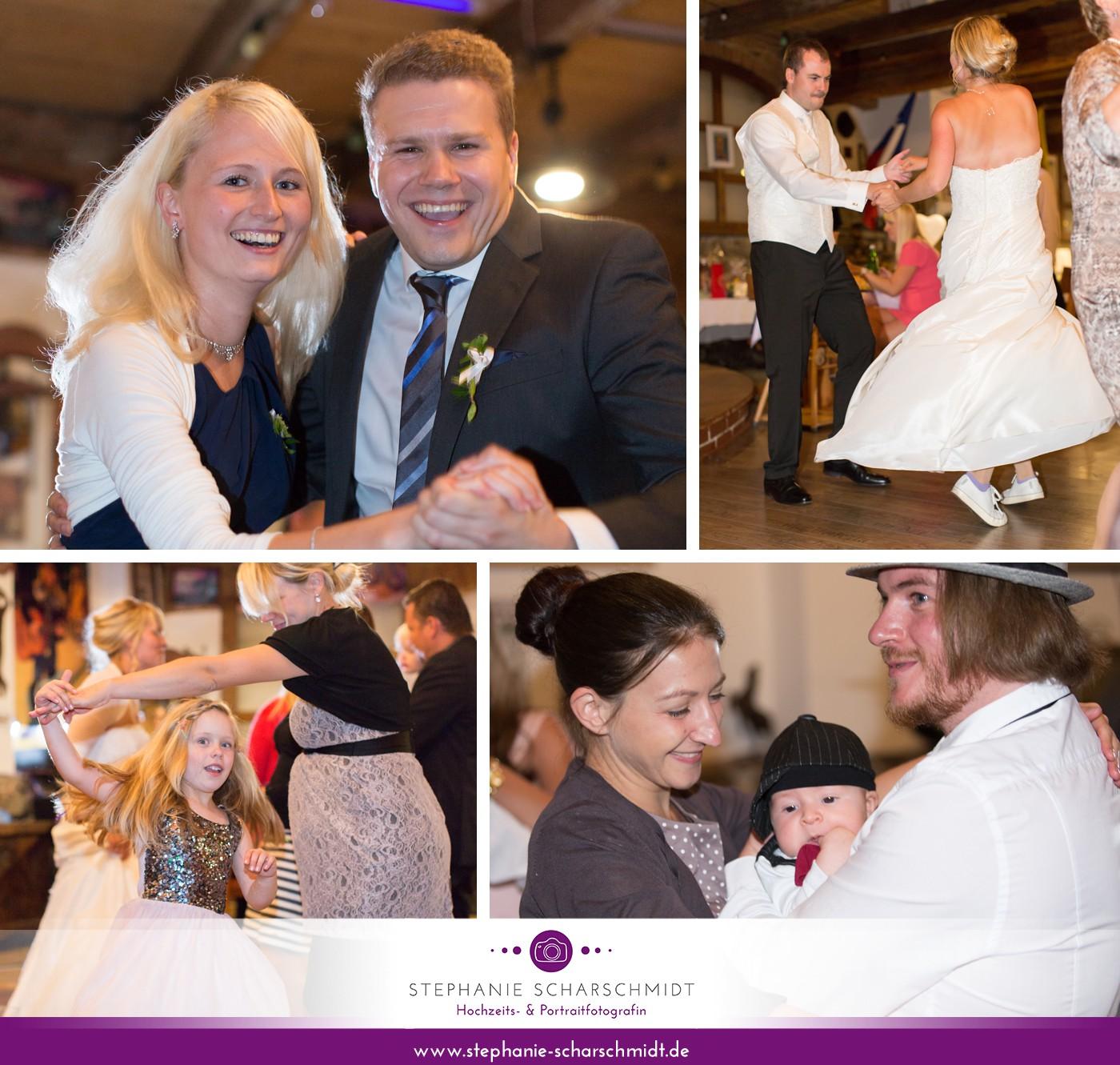 Tanzen auf englischsprachiger Hochzeit