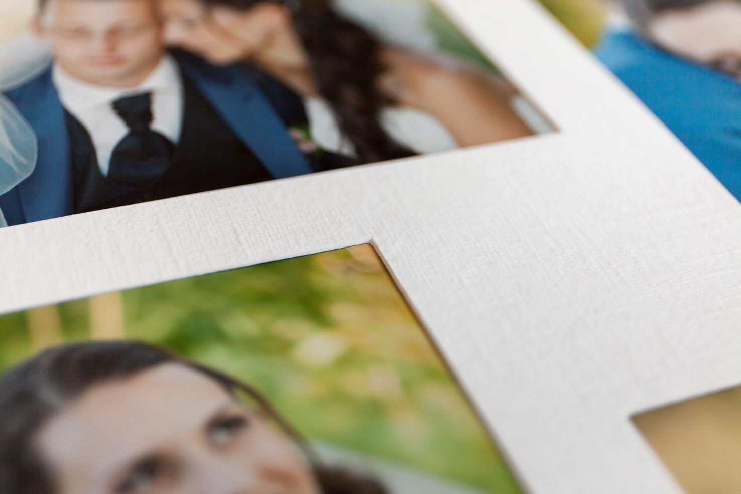 Passepartout Hochzeitsalbum mit echten Fotos | von Hand gearbeite