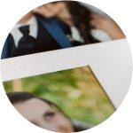 Passepartout Hochzeitsalbum mit echten Fotos - hochzeitsalbum professionell