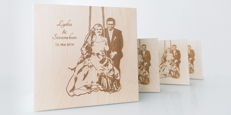 Holz Hochzeitsalbum - Hochzeitsfotografin Stephanie Scharschmidt